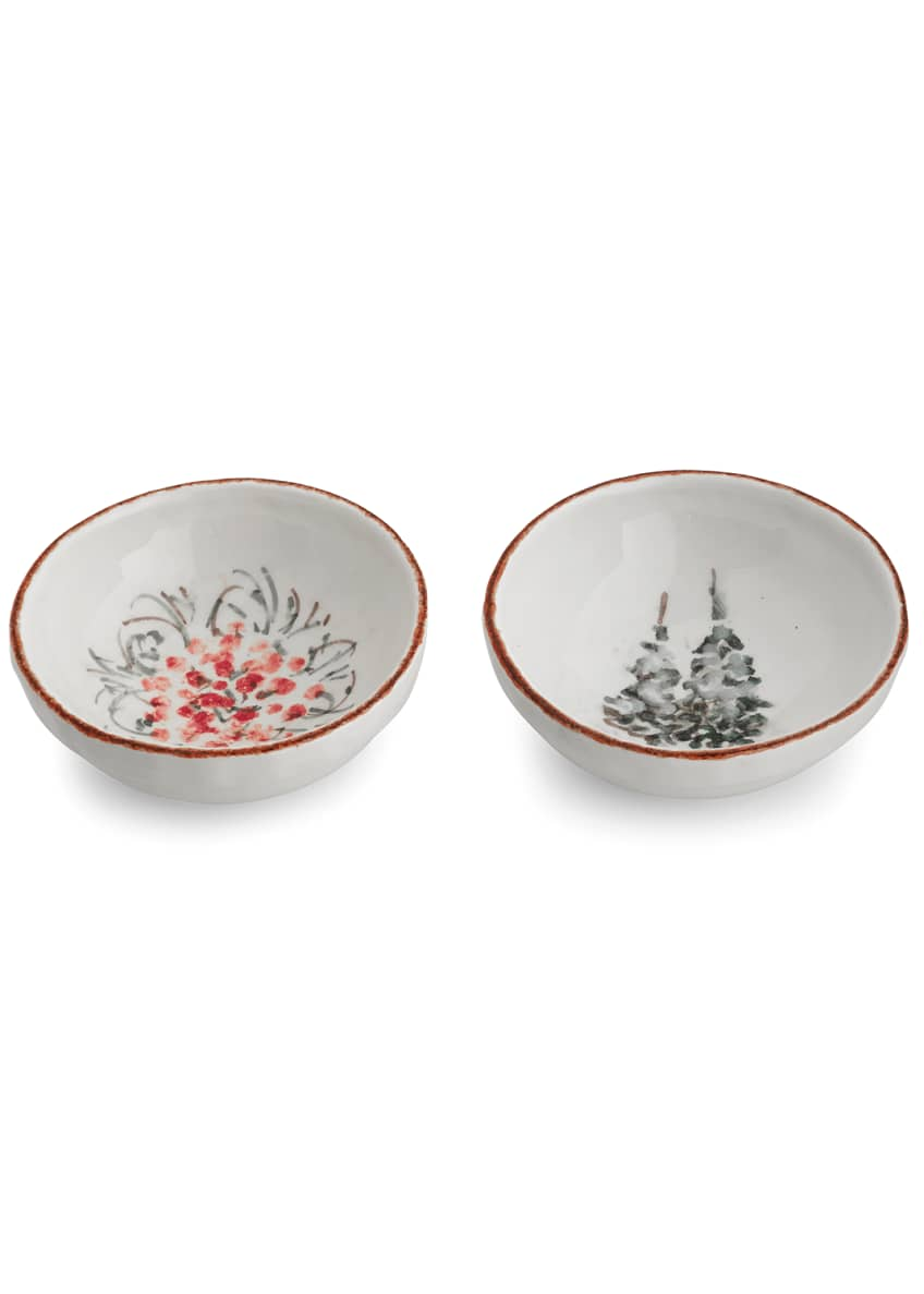 Arte Italica Natale Small Dipping Bowl Set
