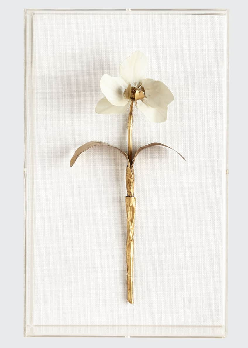 Image 1 of 1: Original Gilded Orchid 1 Study on Linen