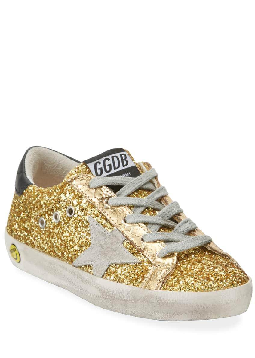 Golden Goose Superstar Glitter Fabric Low-Top Sneakers,