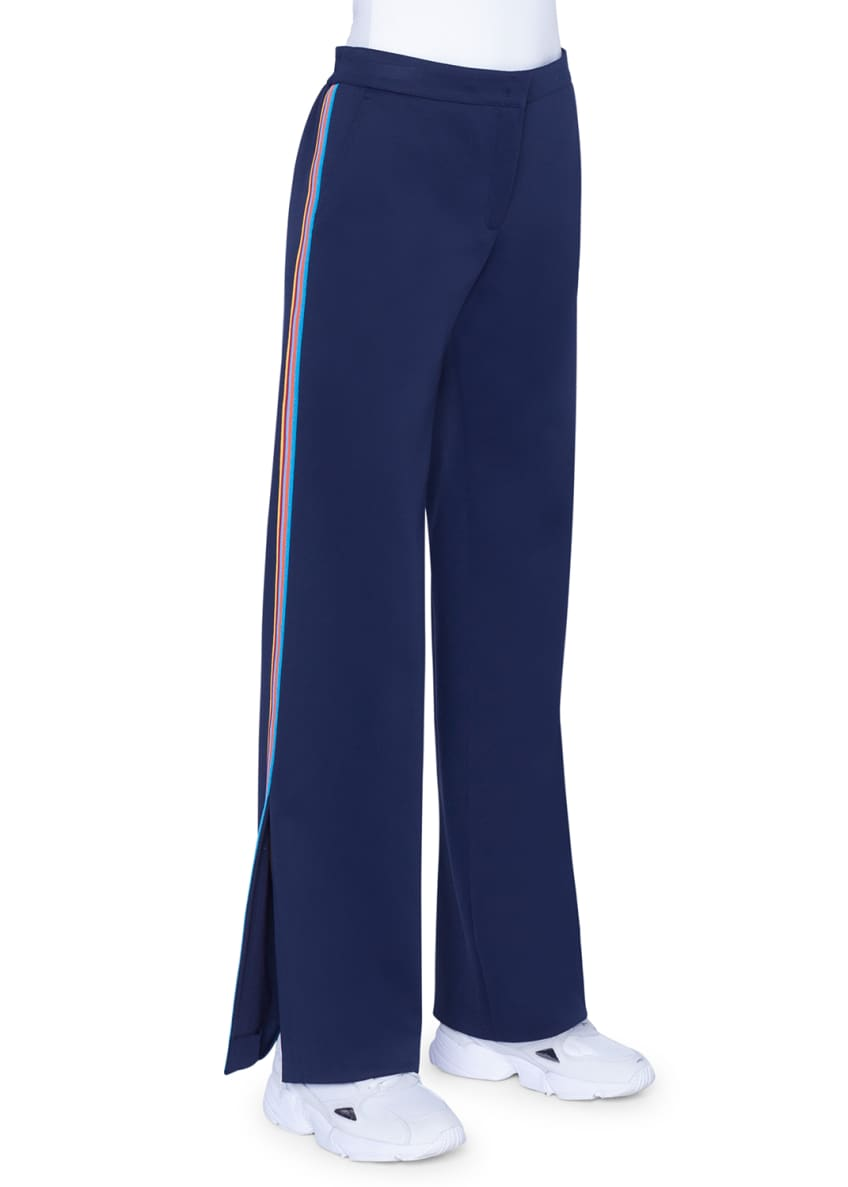 Image 2 of 4: Marla Tuxedo-Striped Jersey pants