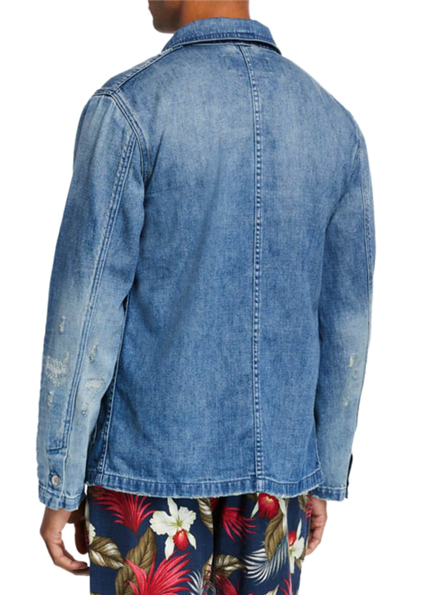Image 2 of 4: Men's Denim Worker Jacket