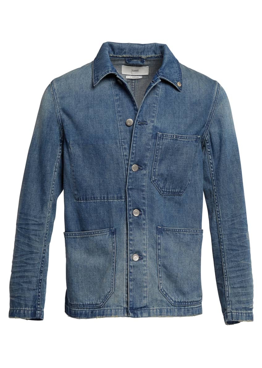Image 4 of 4: Men's Denim Worker Jacket