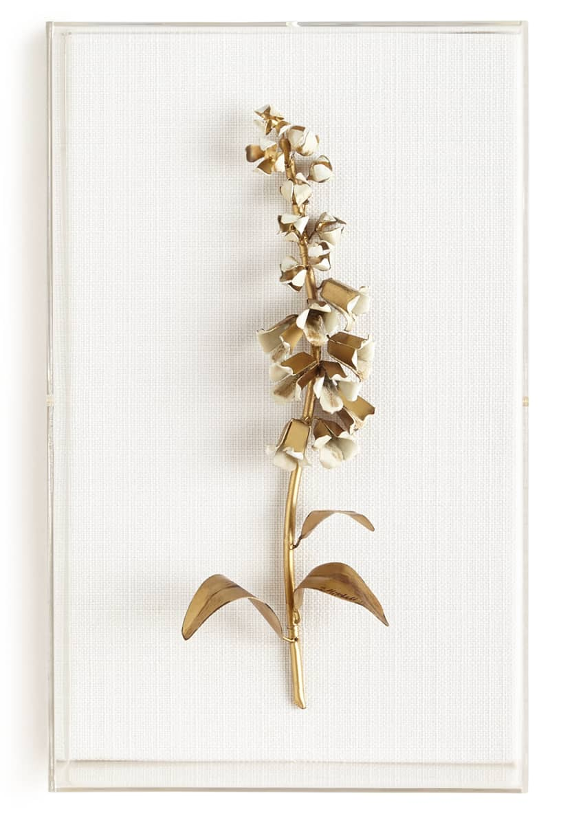 Image 1 of 1: Original Gilded Foxglove Study on Linen