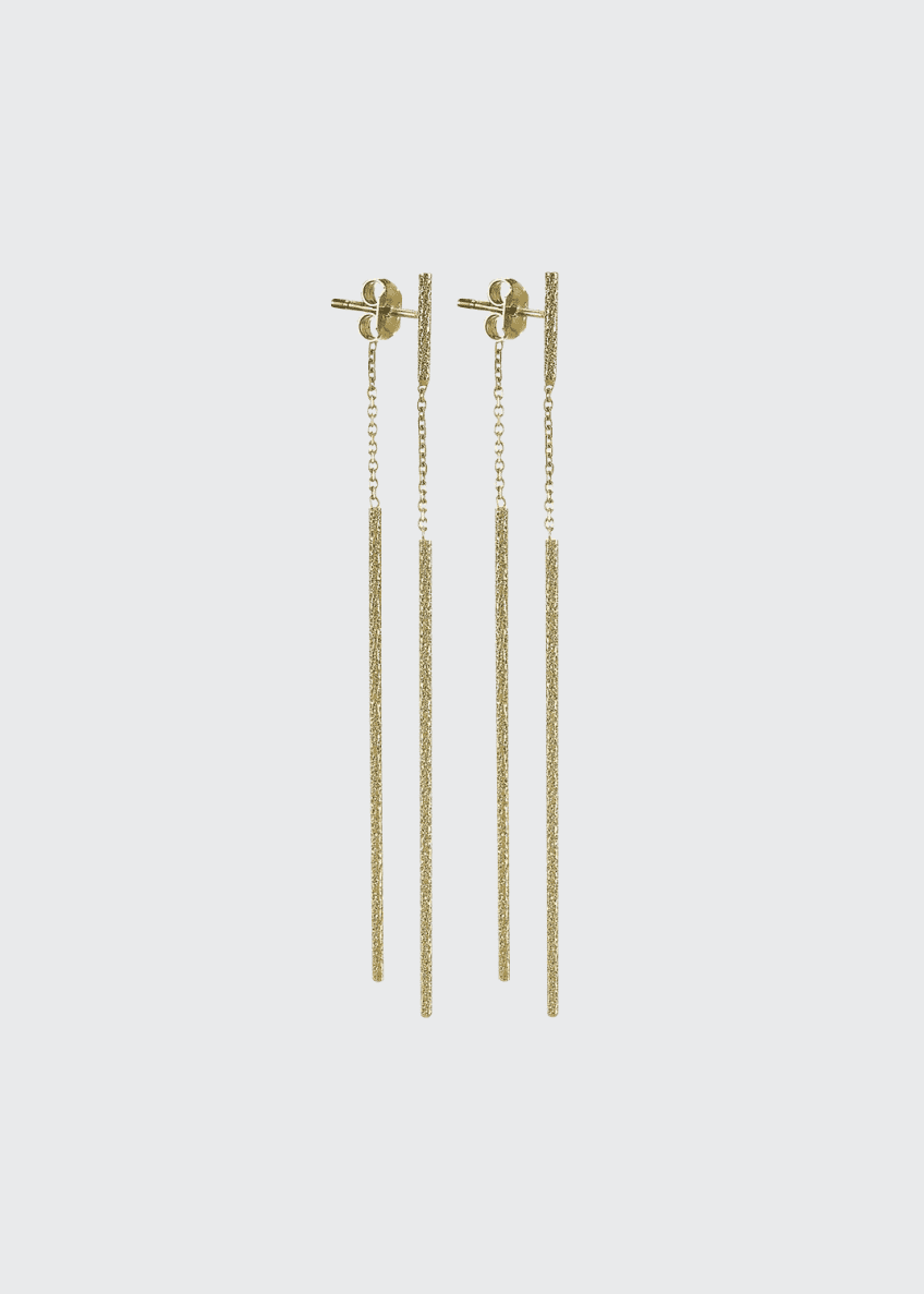 Carolina Bucci Florentine 18k Gold Magic Wand Earrings