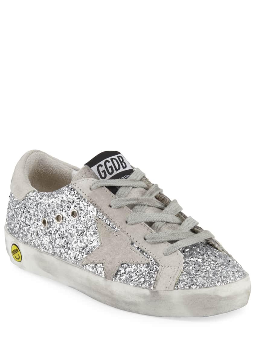 Golden Goose Superstar Glittered Low-Top Sneakers, Baby/Toddler &