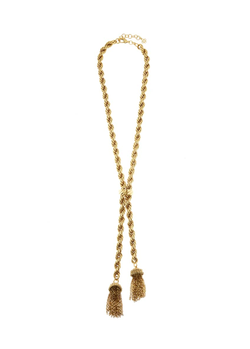 Image 1 of 1: Tassel Rope-Chain Necklace