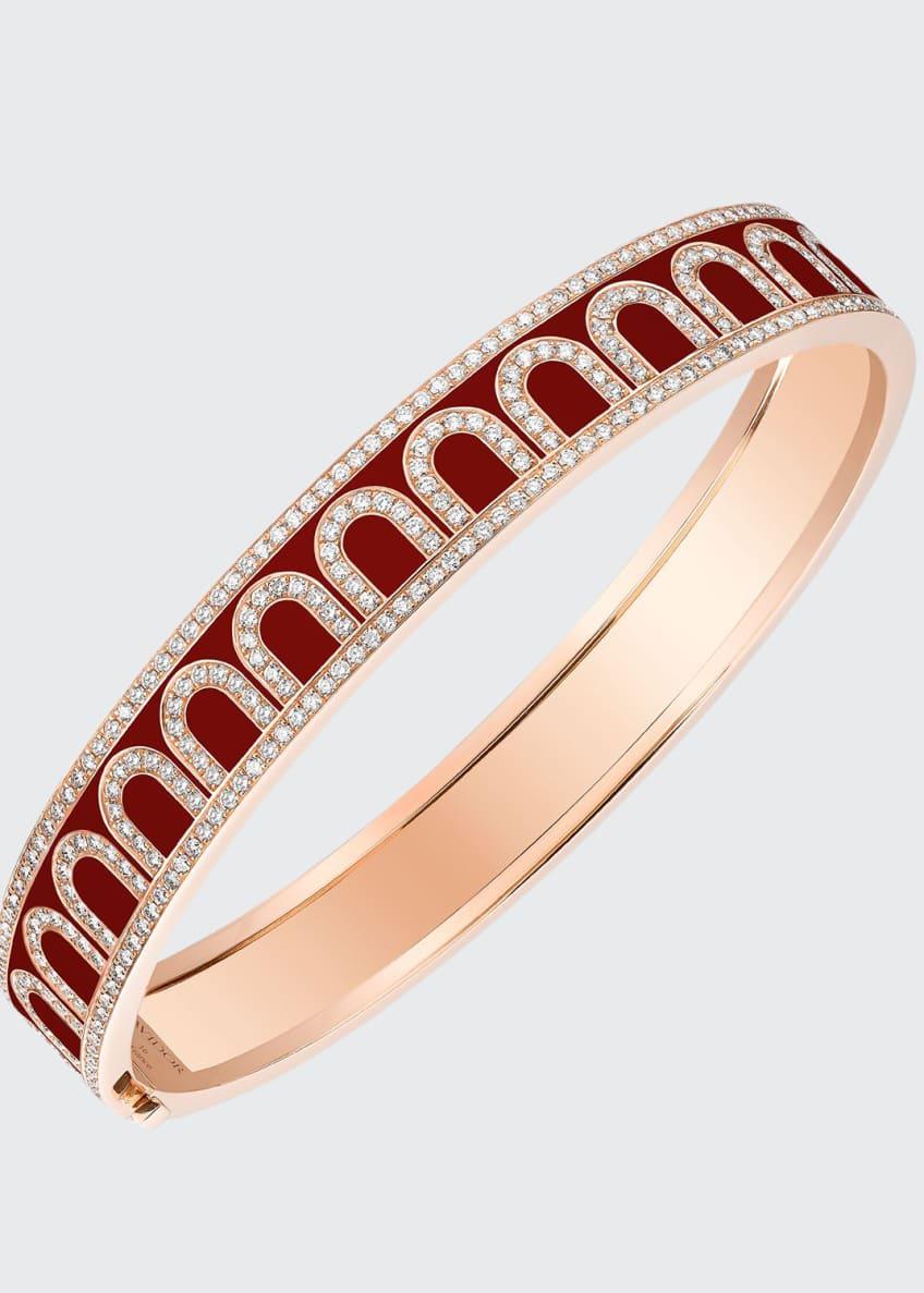 L'Arc de Davidor 18k Rose Gold Diamond Bangle
