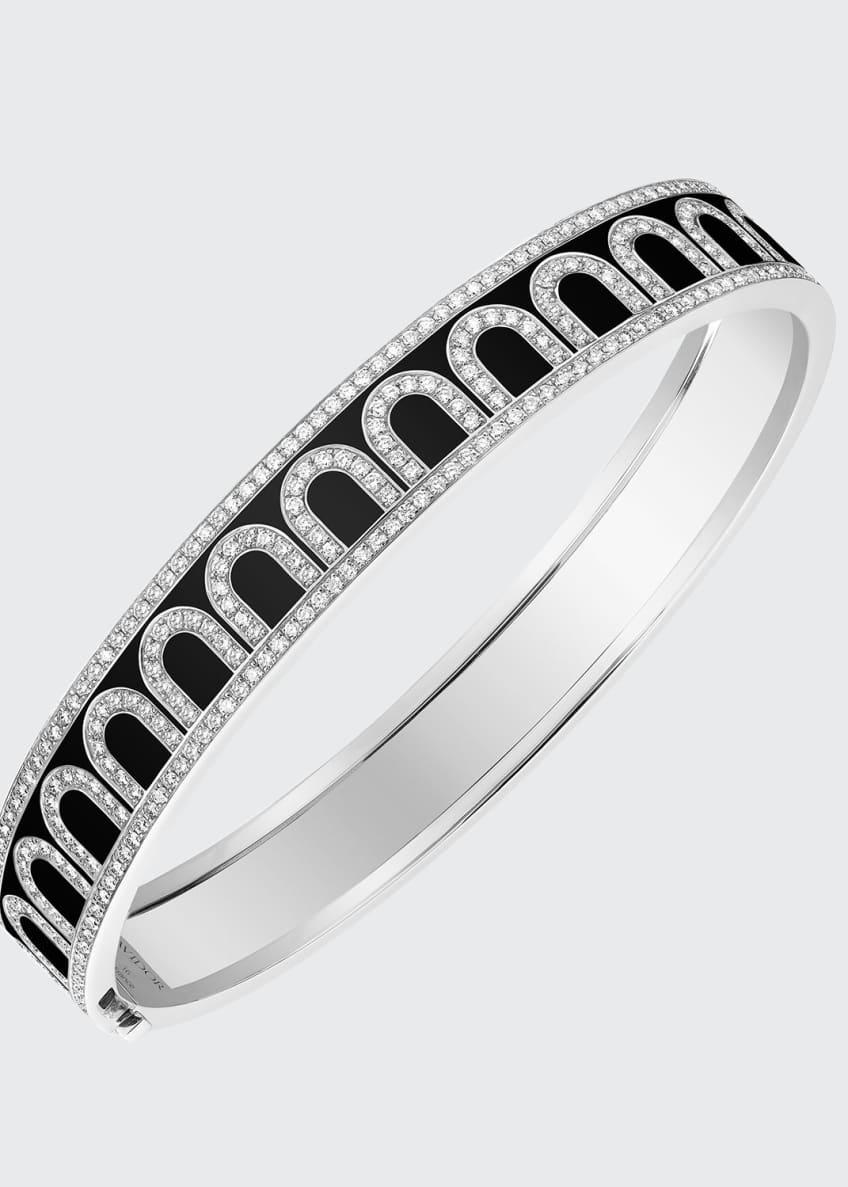 L'Arc de Davidor 18k White Gold Diamond Bangle