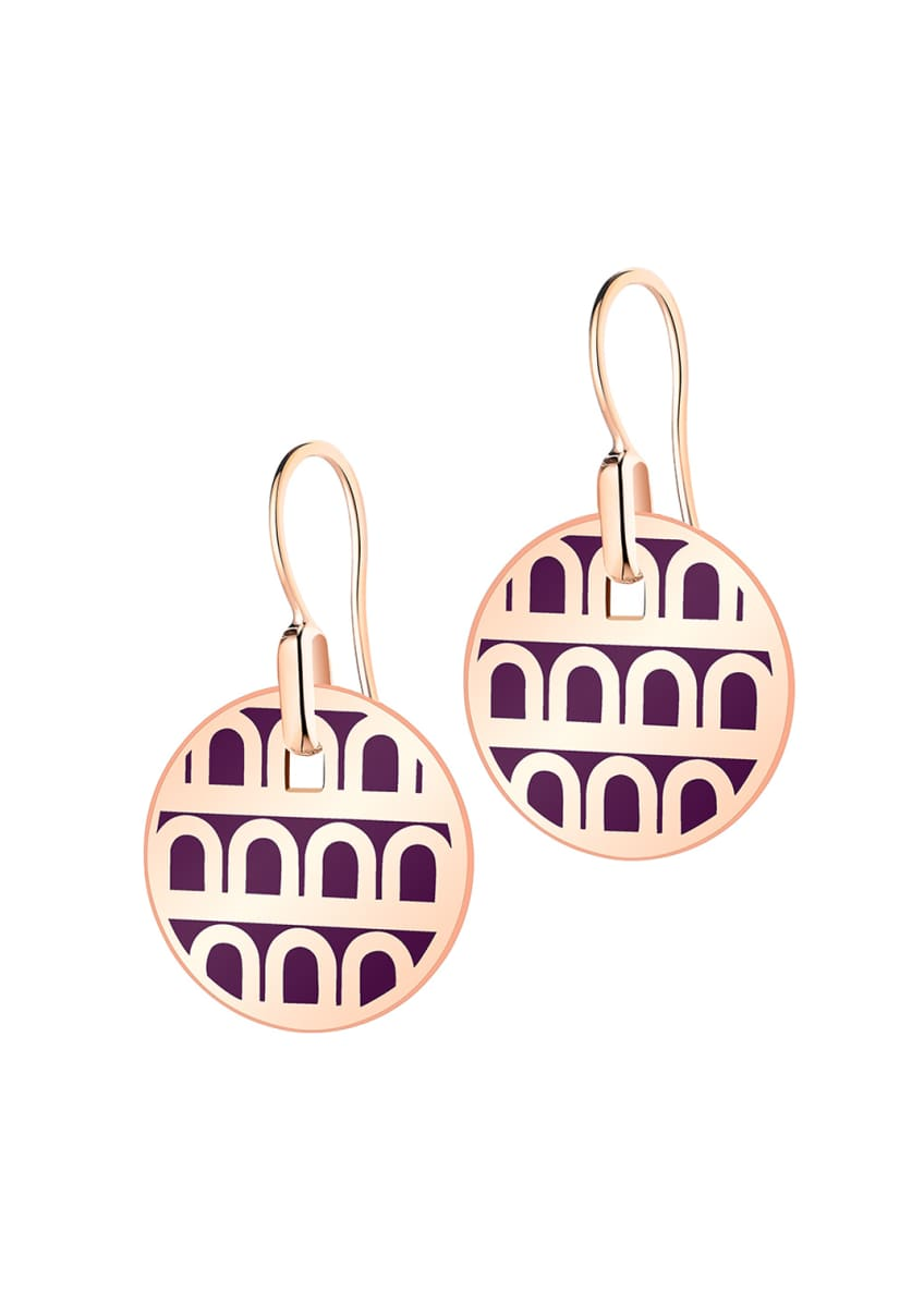 L'Arc de Davidor 18k Rose Gold Drop Earrings