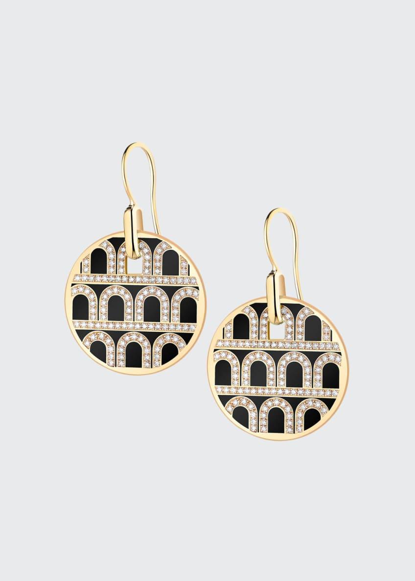 L'Arc de Davidor 18k Gold Diamond Drop Earrings