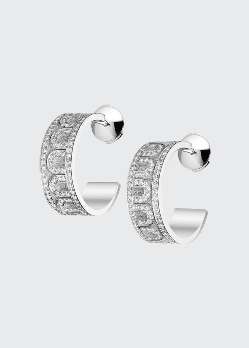 L'Arc de Davidor 18k White Gold Diamond Hoop
