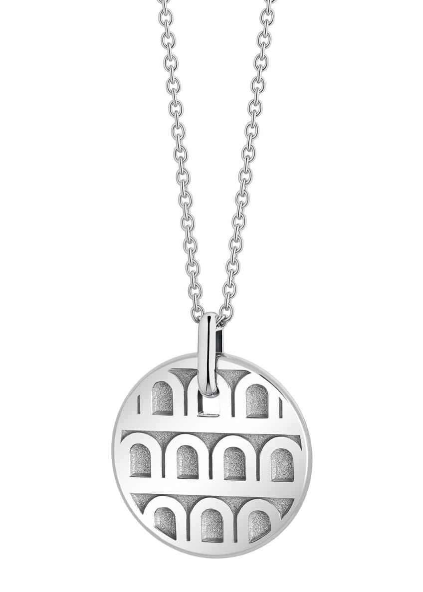 L'Arc de Davidor 18k White Gold Pendant Necklace