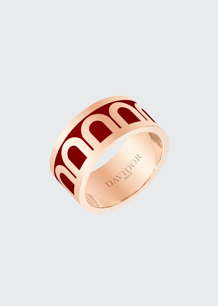 L'Arc de Davidor 18k Rose Gold Ring -