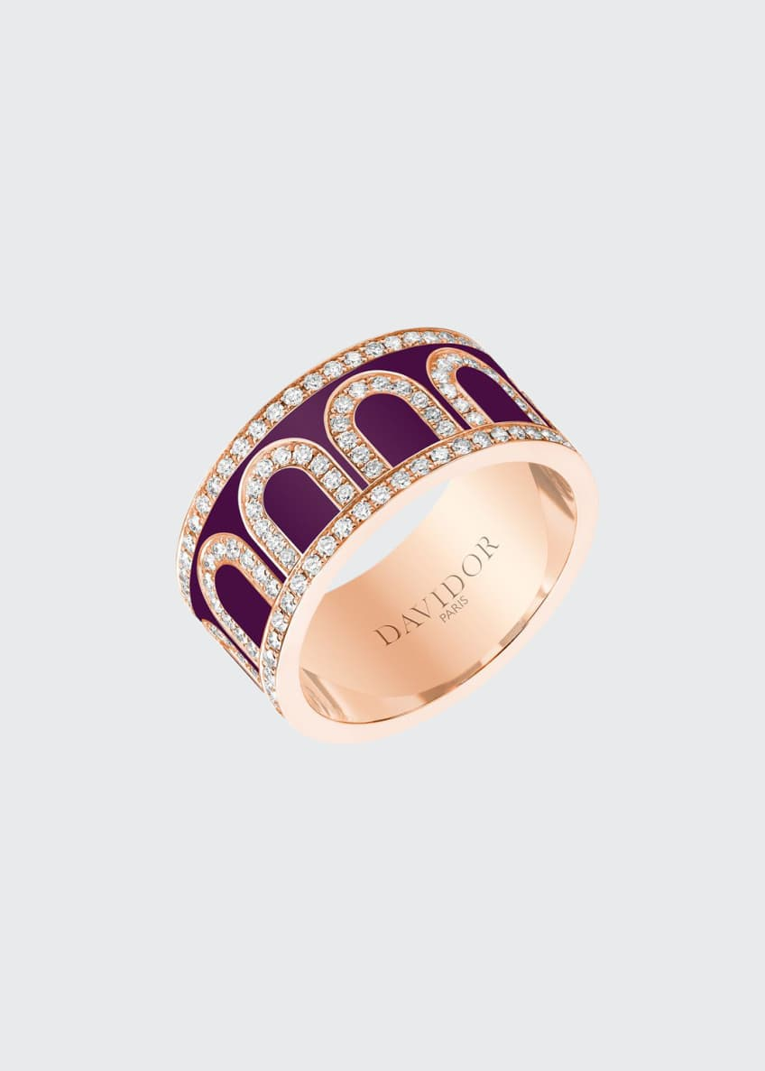 L'Arc de Davidor 18k Rose Gold Diamond Ring