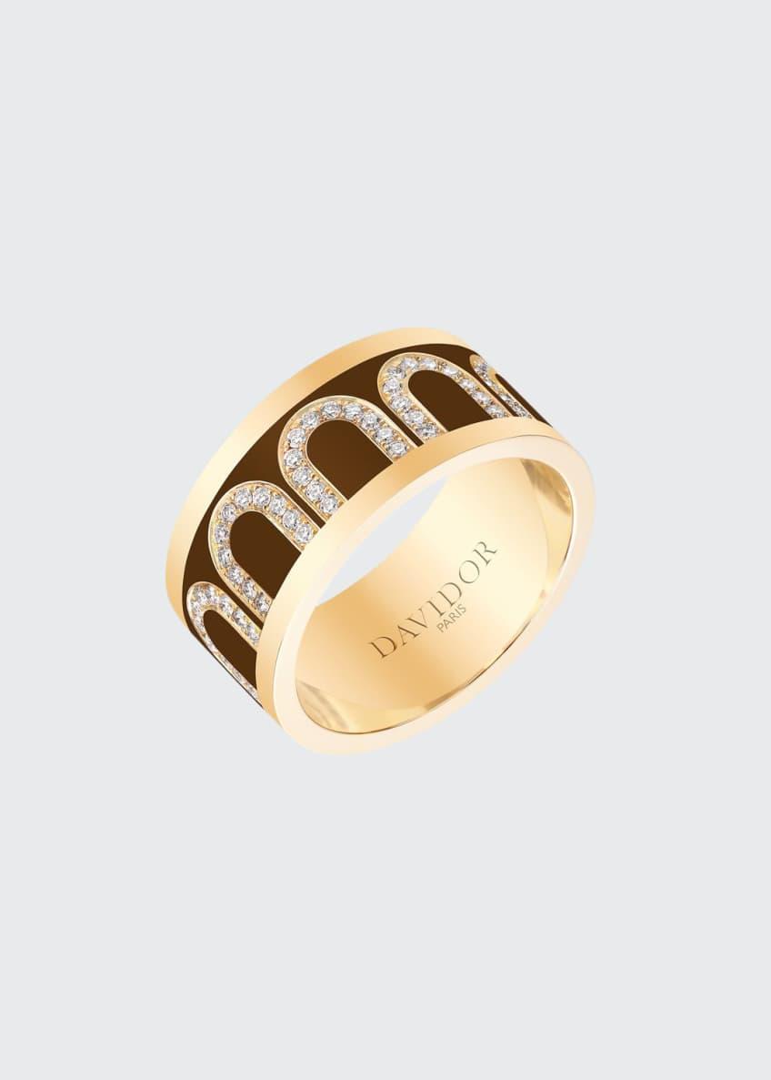L'Arc de Davidor 18k Gold Arcade Diamond Ring