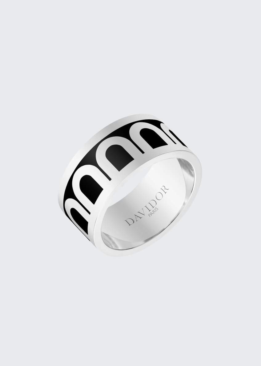 L'Arc de Davidor 18k White Gold Ring -