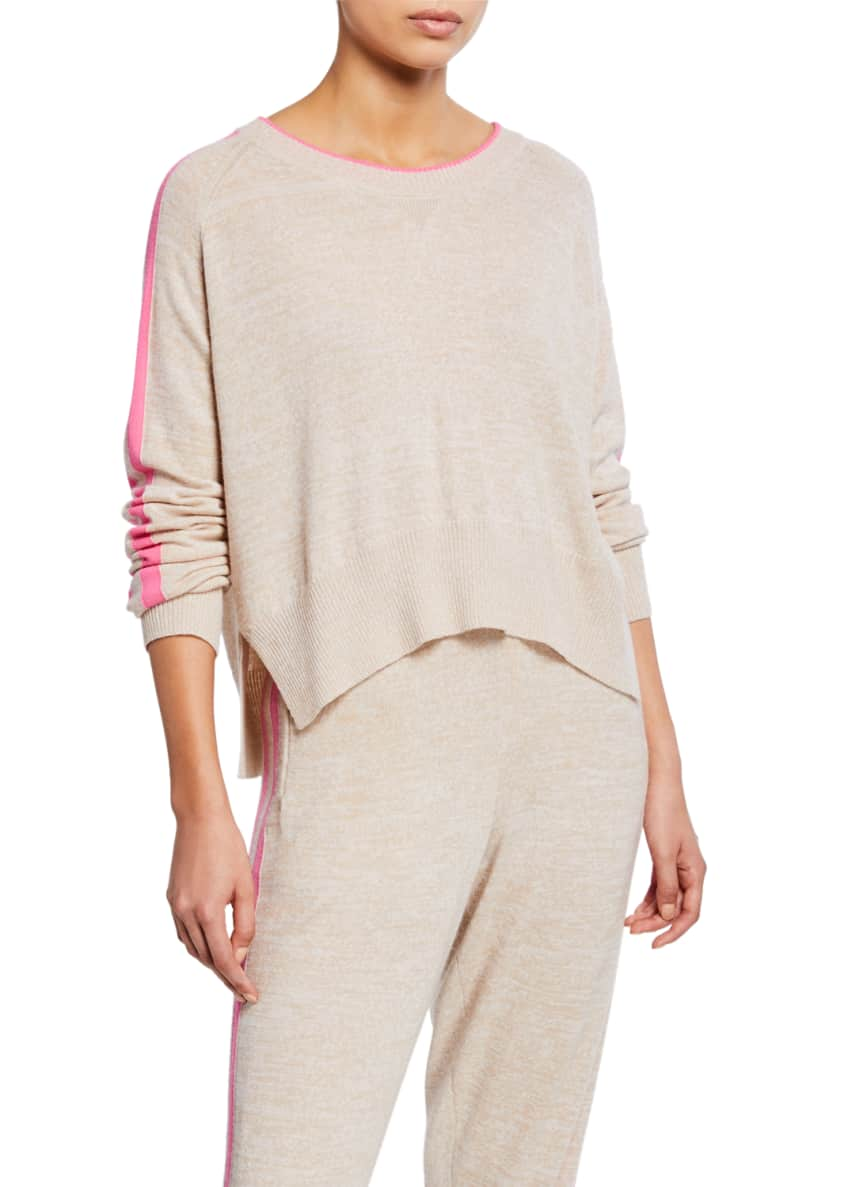 Zoe Jordan Bruni Long-Sleeve Wool Pullover with Racer