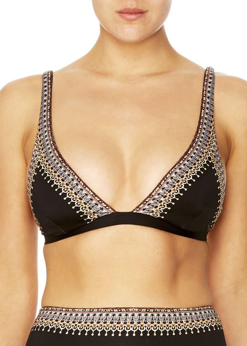 Camilla Strappy Fixed Triangle Bikini Top & Matching