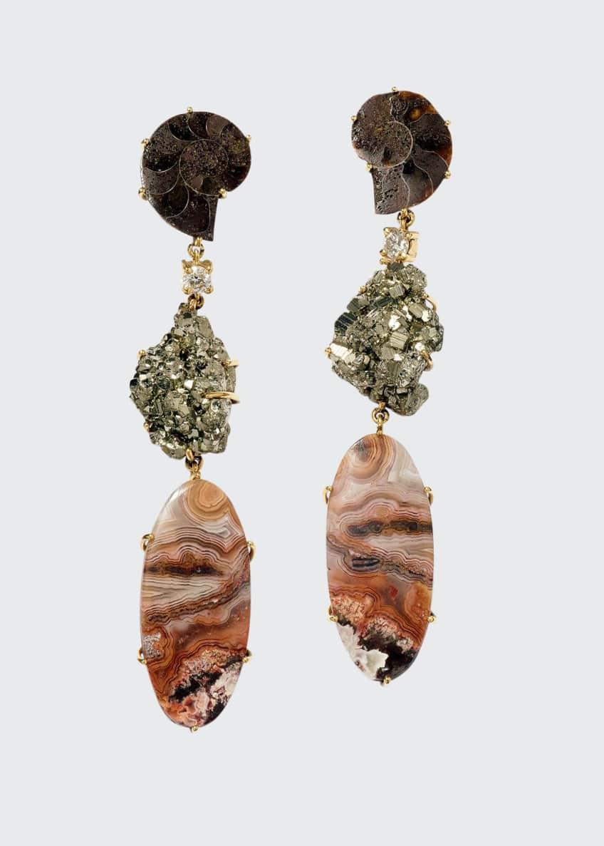 Jan Leslie 18K Bespoke Tribal Luxury 3-Tier Earring