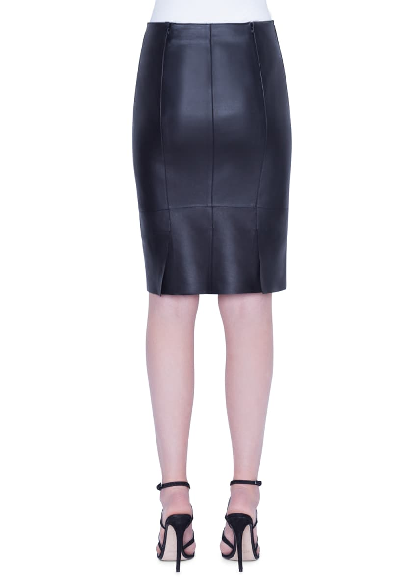 Image 2 of 2: Leather Pencil Skirt
