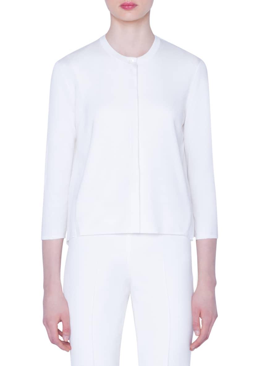 Akris Plisse-Back Silk Cardigan & Matching Items