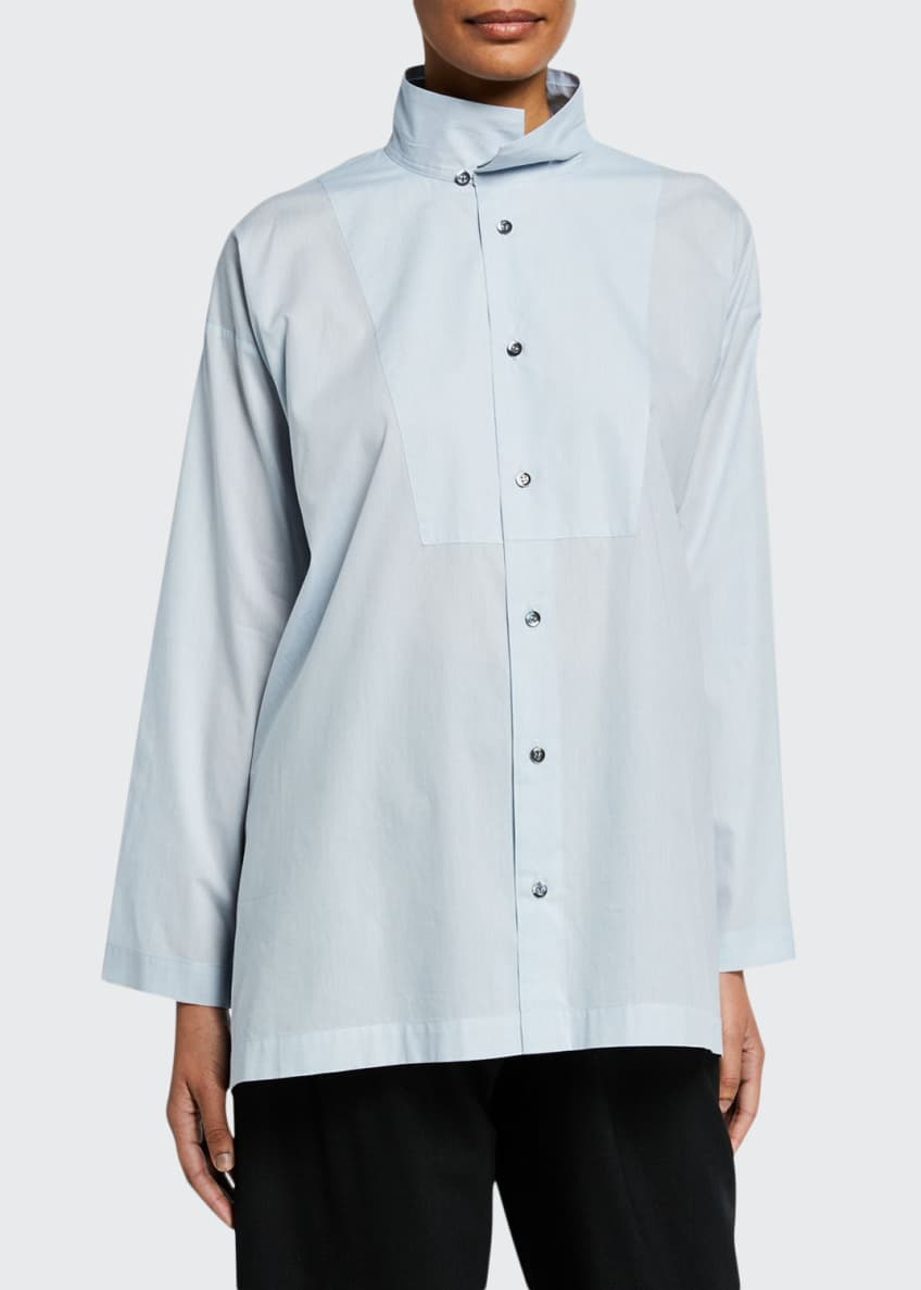 Eskandar Slim A-Line Two-Collar Shirt & Matching Items