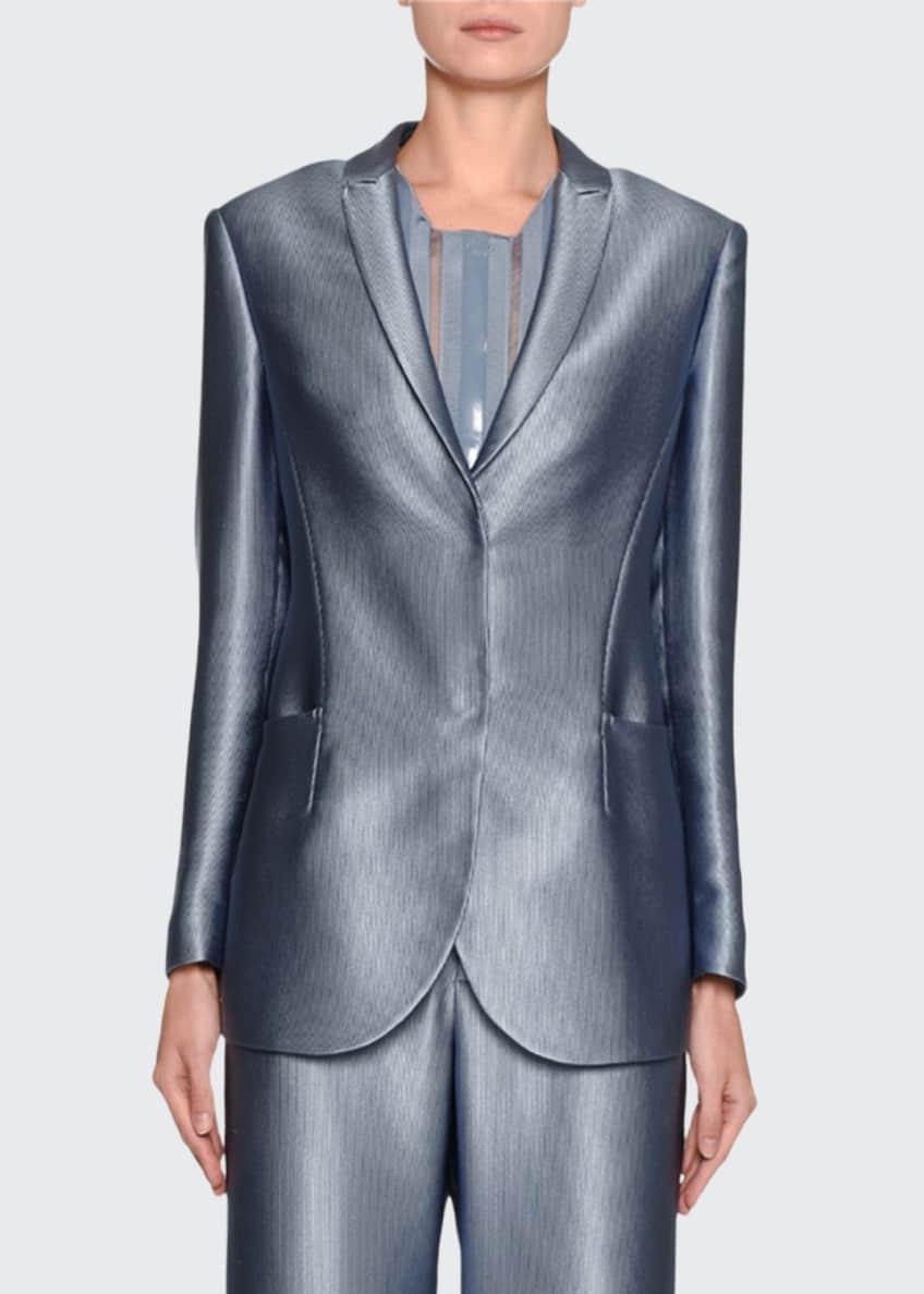 Giorgio Armani Silk Ottoman Jacket & Matching Items