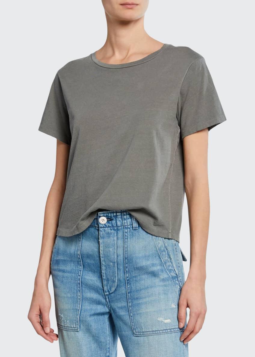 AMO Denim Classic Cotton Short-Sleeve Crewneck Tee &