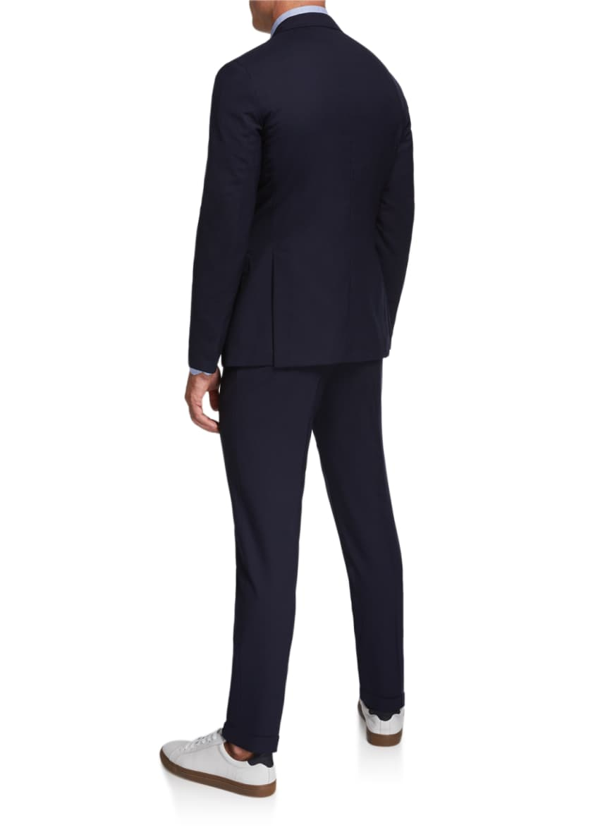 Image 2 of 4: Men's Two-Piece Wool Twill Suit