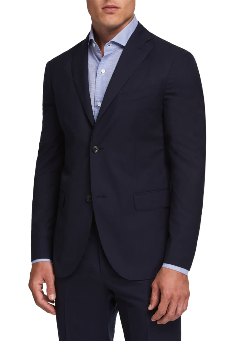 Image 3 of 4: Men's Two-Piece Wool Twill Suit