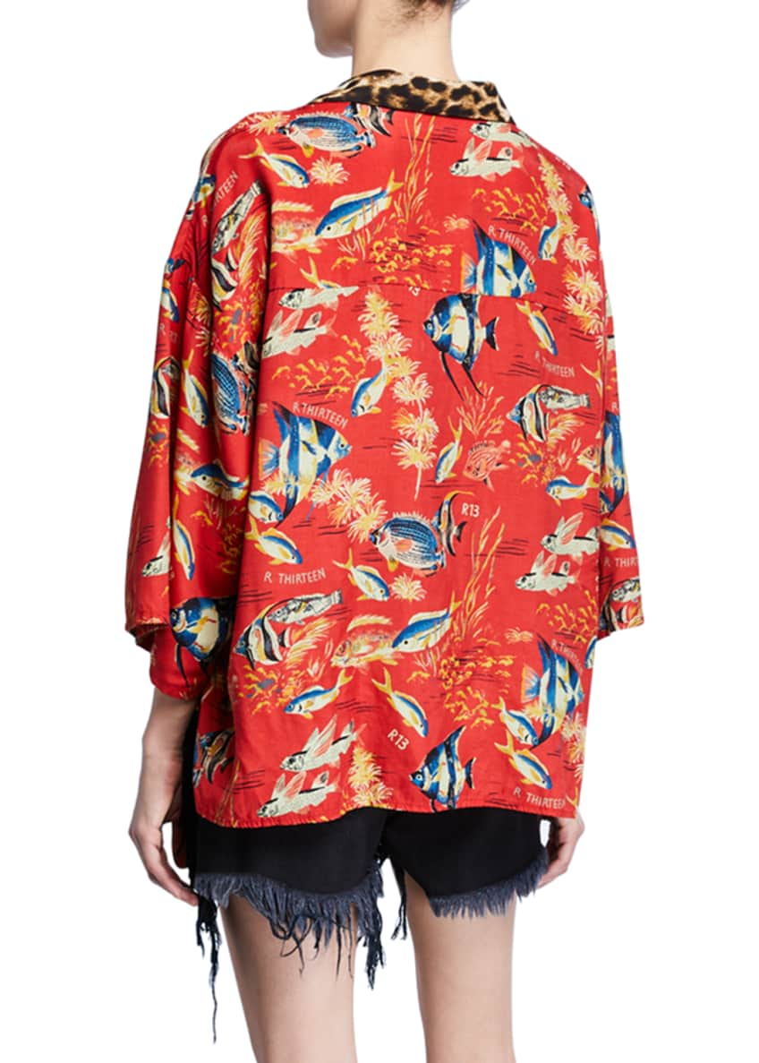Image 2 of 4: Oversized Hawaiian Shirt