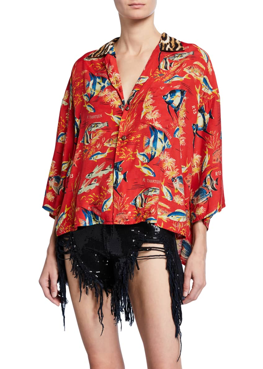 Image 1 of 4: Oversized Hawaiian Shirt