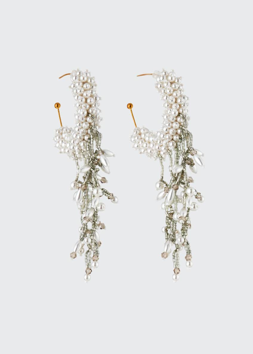 Mignonne Gavigan Mini Blair Pearly Hoop Dangle Earrings