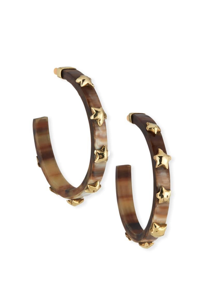 Ashley Pittman Hofu Studded Hoop Earrings in Dark