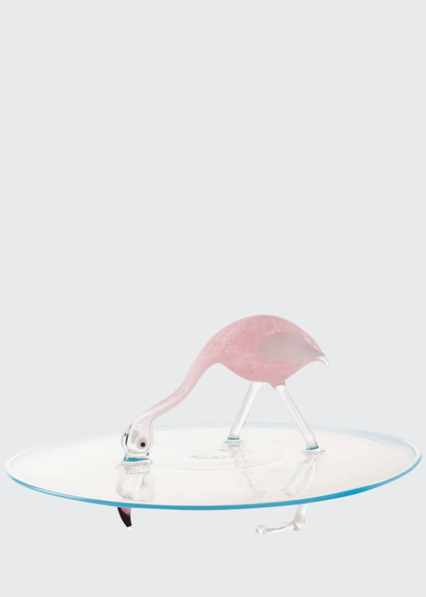 Image 1 of 1: Flamingo Cake Plate