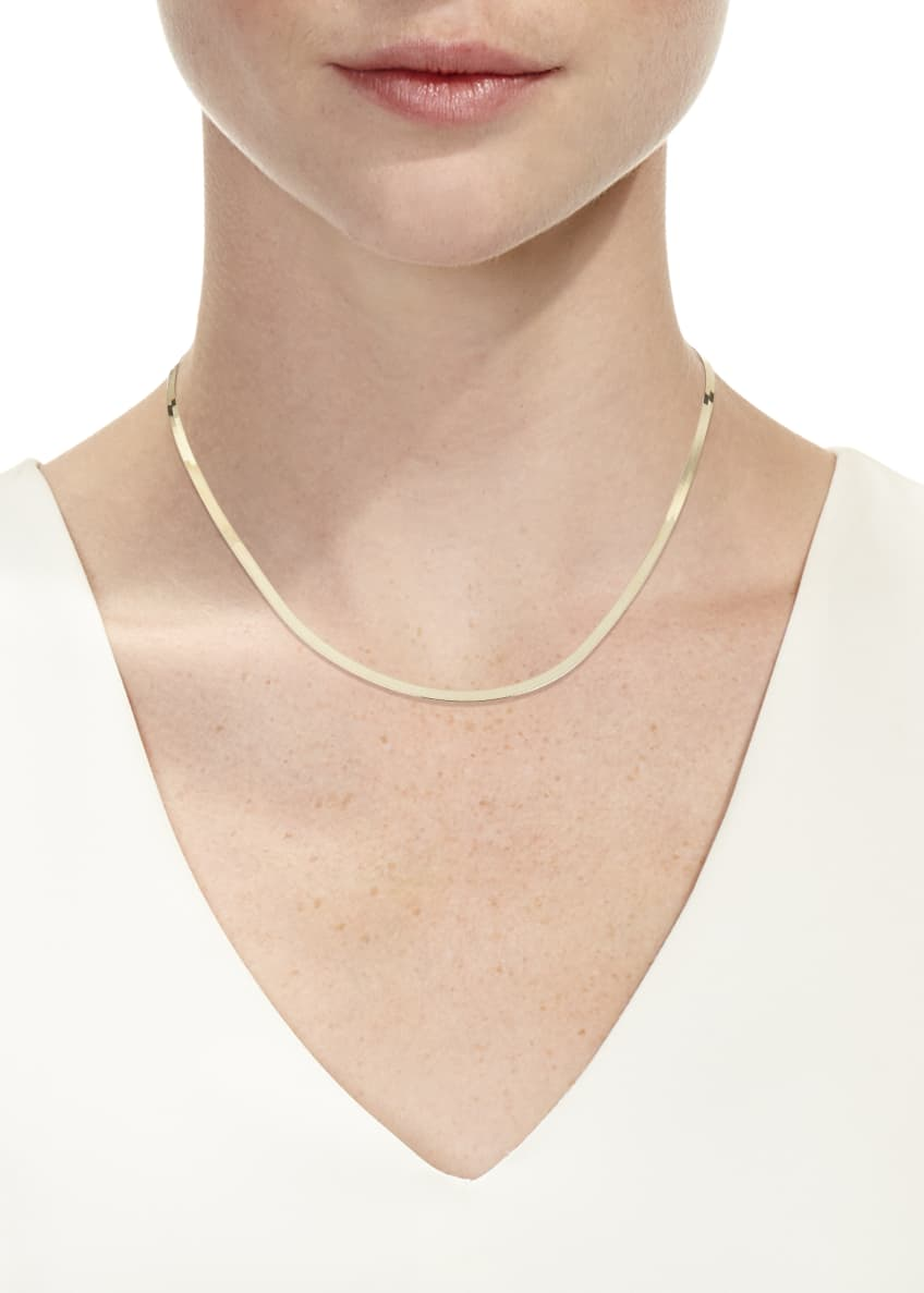 Image 2 of 2: 14k Liquid Thin 3mm Choker Necklace