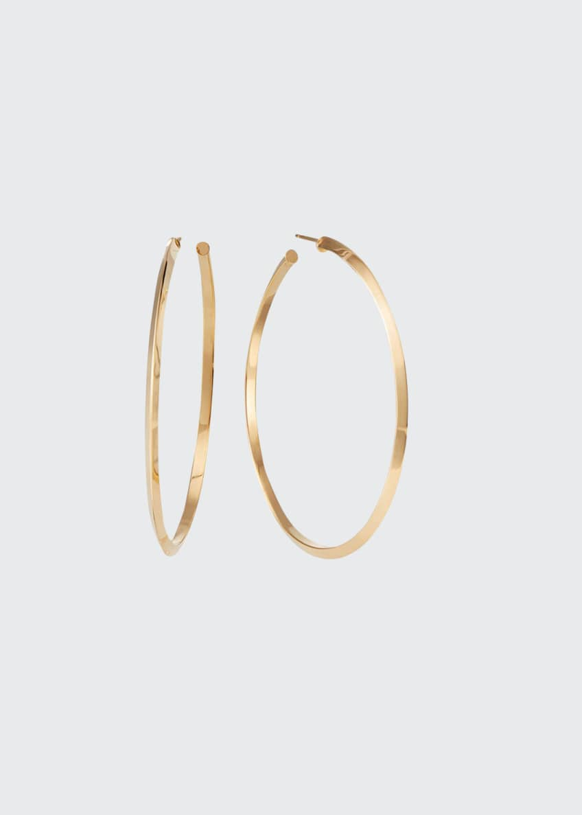 LANA Hollow 14k Gold Hoop Earrings w/ Diagonal