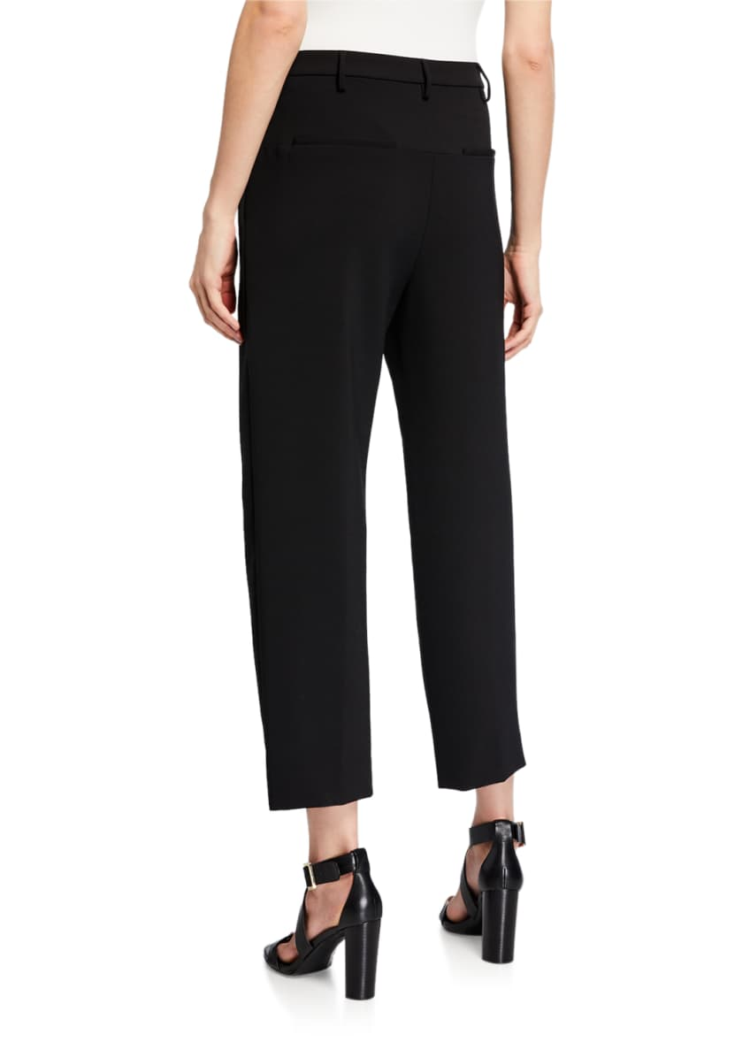 Image 2 of 4: Classic High-Rise Dense-Wool Pants