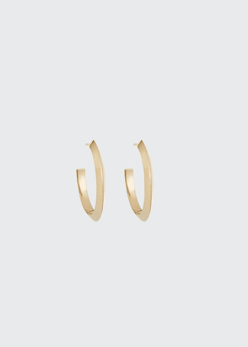 LANA 14k Pointed Royale Hoop Earrings, 20mm