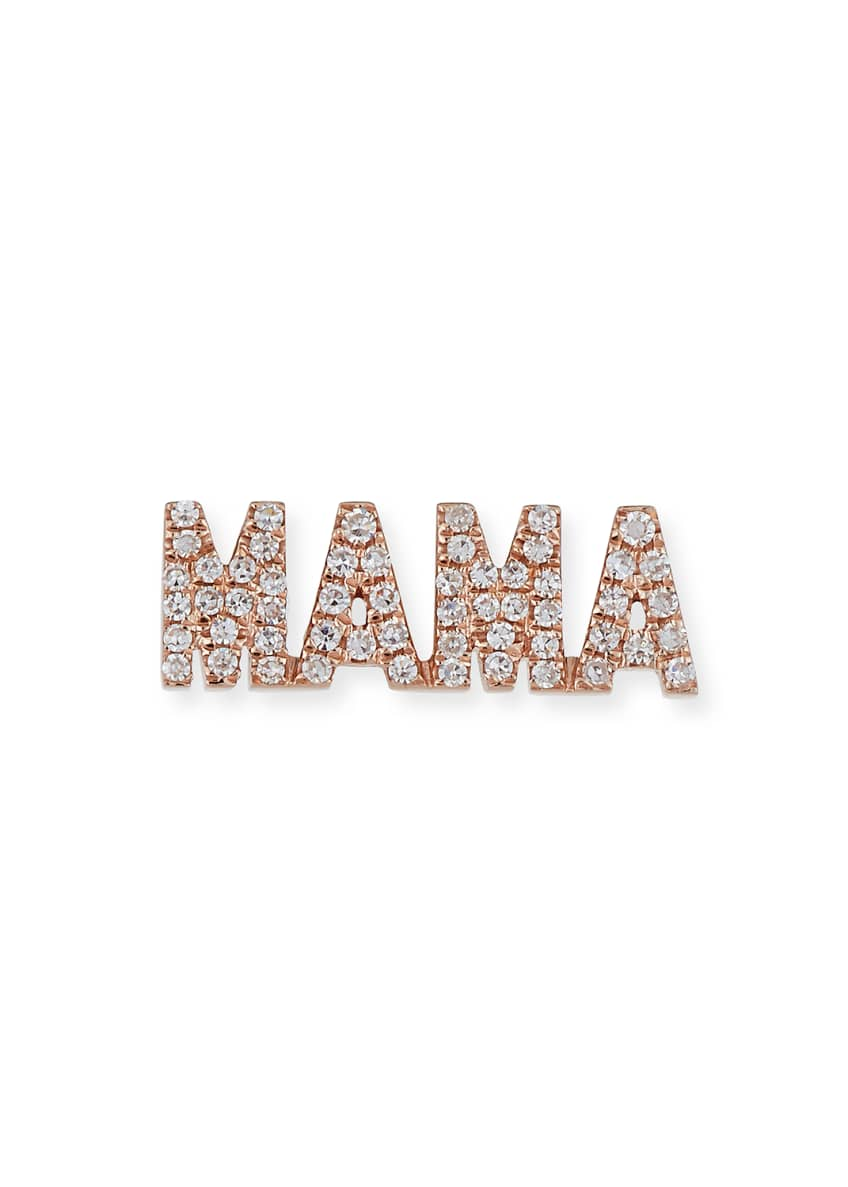 EF Collection 14k Rose Gold Diamond MAMA Stud