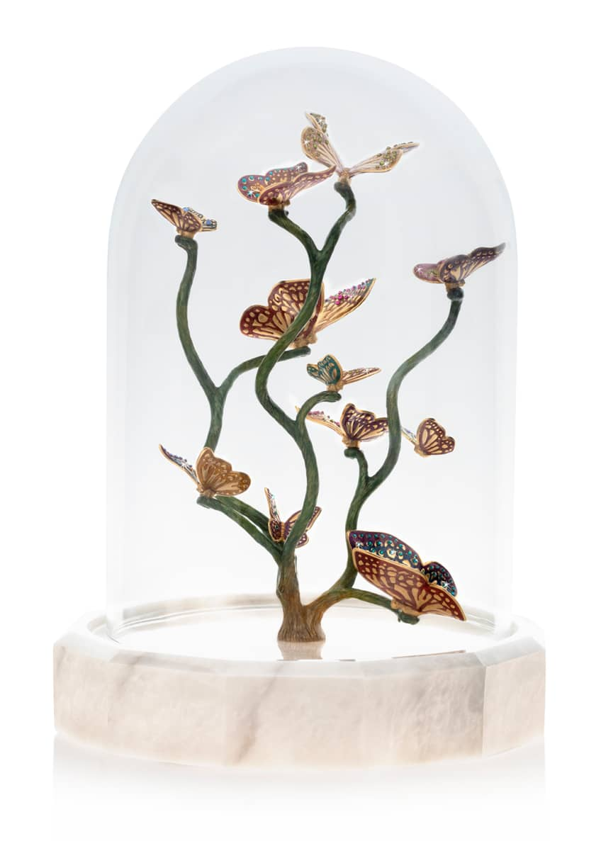 Jay Strongwater Butterfly Branch Cloche