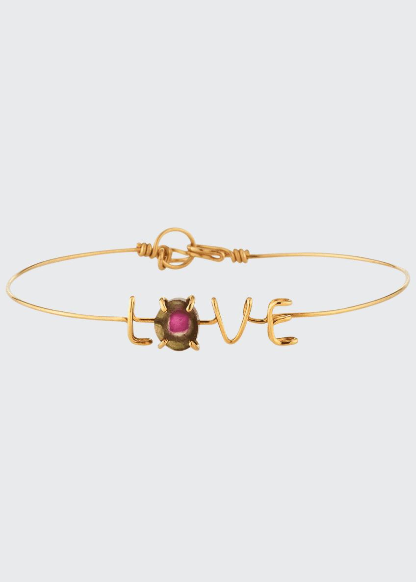Atelier Paulin LOVE & Tourmaline Wire Bracelet