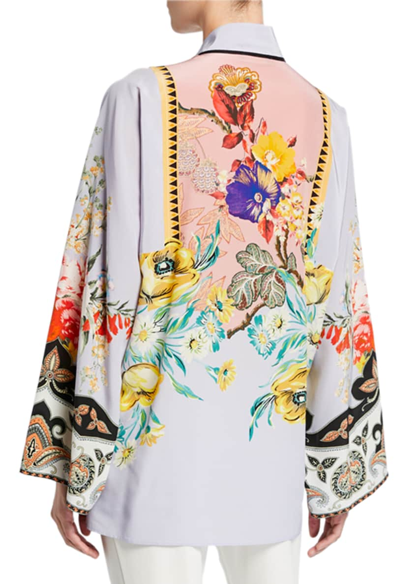 Image 2 of 4: Place Rose Floral Tie-Neck Tunic