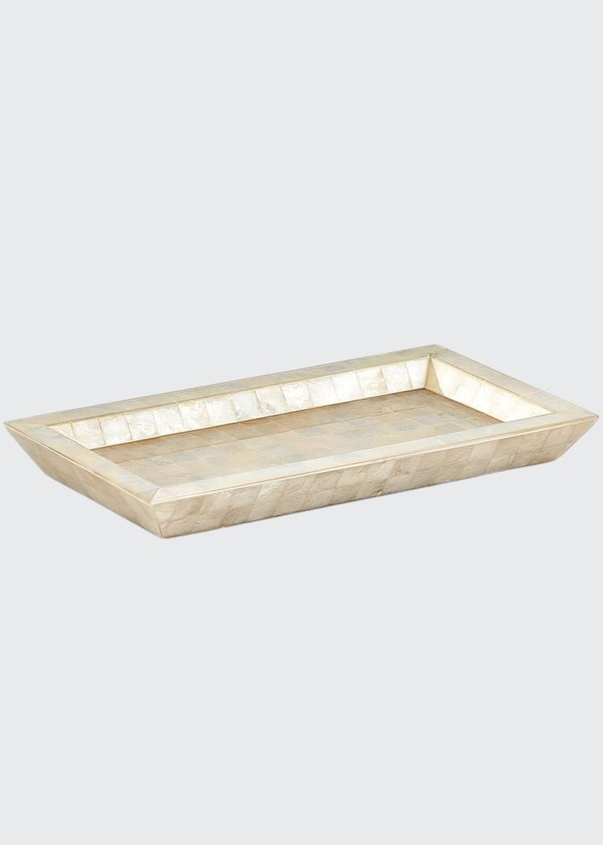 Image 1 of 1: Capiz Ivory Tray