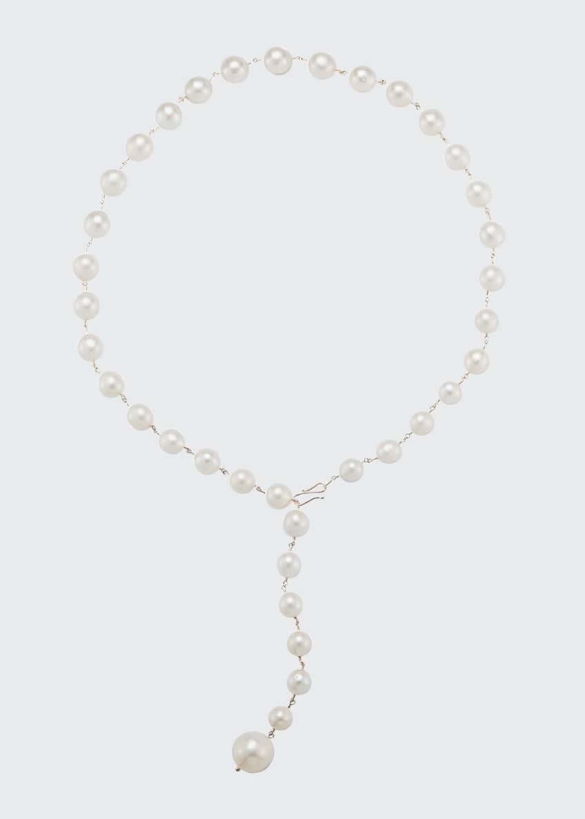 Mizuki 14k Gold Freshwater Pearl Lariat Necklace