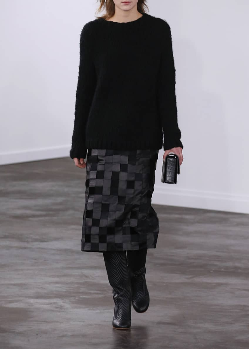 Gabriela Hearst Kiara Silk-Velvet Midi Skirt & Matching