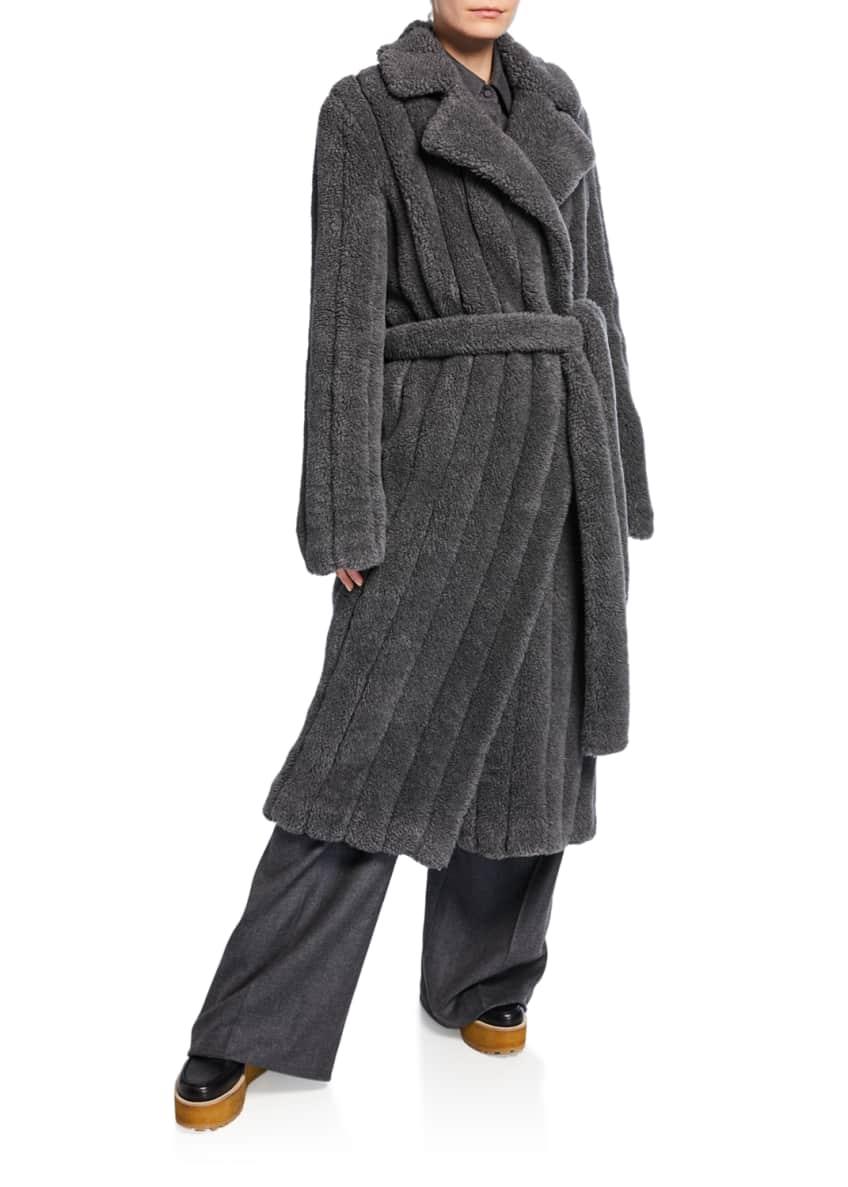 Gabriela Hearst Pavlovna Wool-Cashmere Fur Trench Coat &