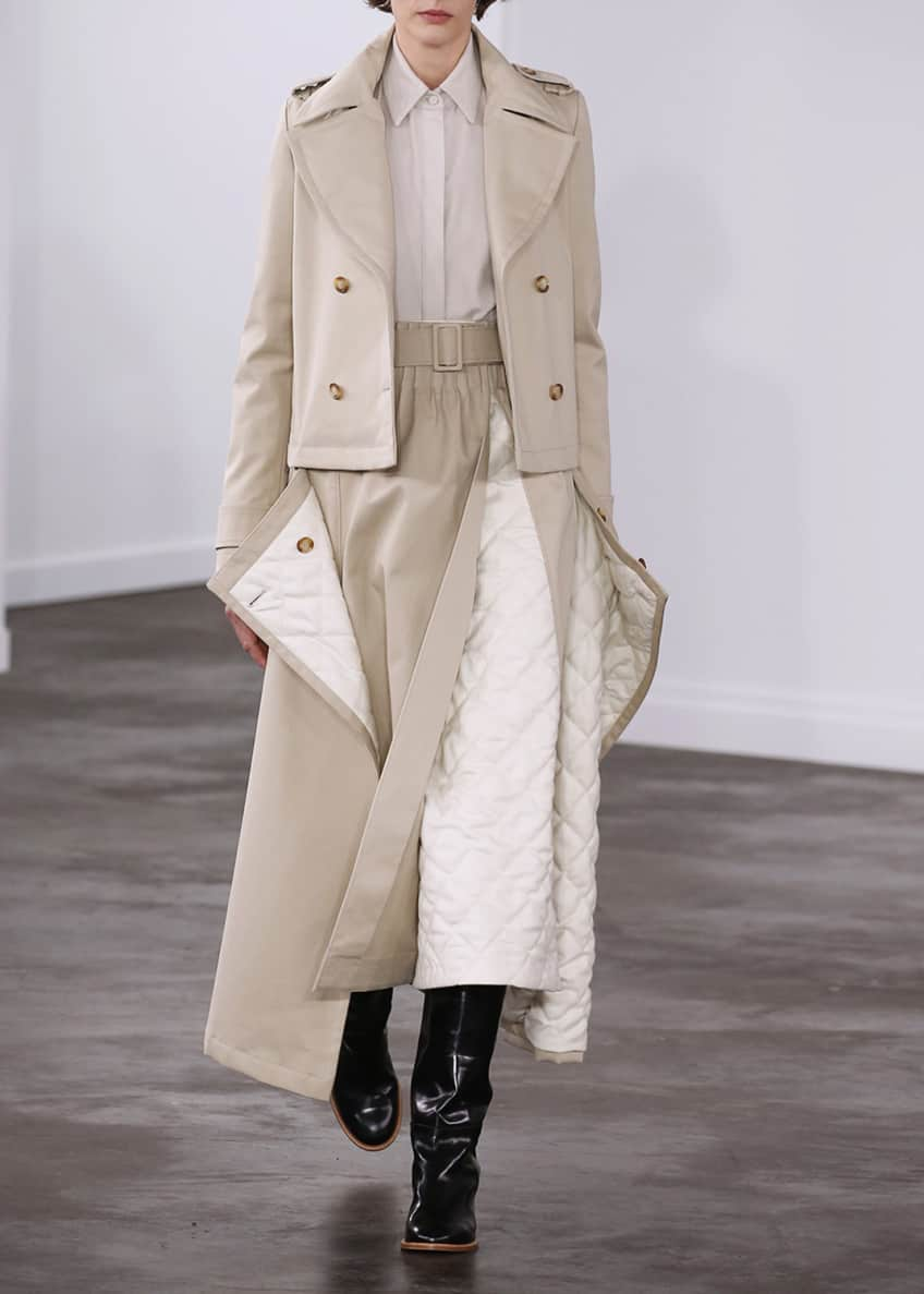Gabriela Hearst Gusev Cotton Trench Coat & Matching