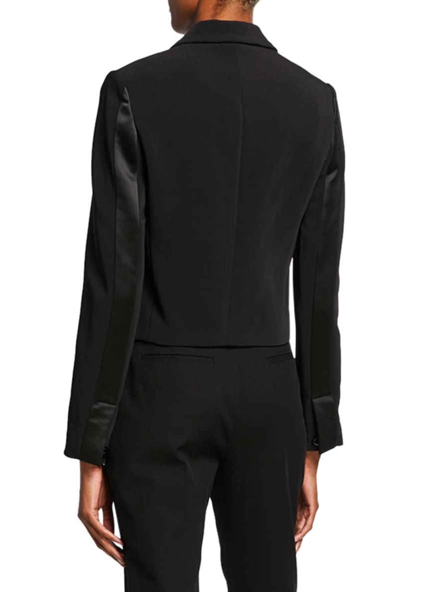 Image 2 of 4: Cropped Tuxedo Jacket