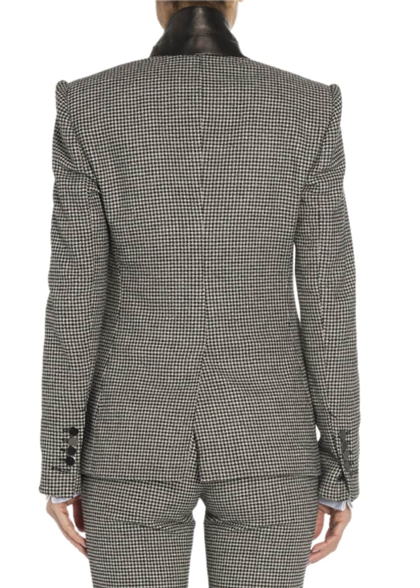 Image 2 of 2: Houndstooth Two-Button Jacket